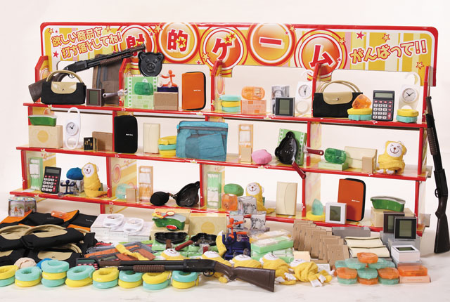 粗品・景品・ノベルティ・記念品の粗品屋本舗 ジャンボ射的大会用景品・日用品使用イメージ
